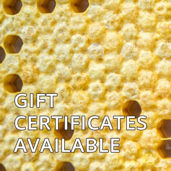 gift certificates available for products of bee keeping workshops
