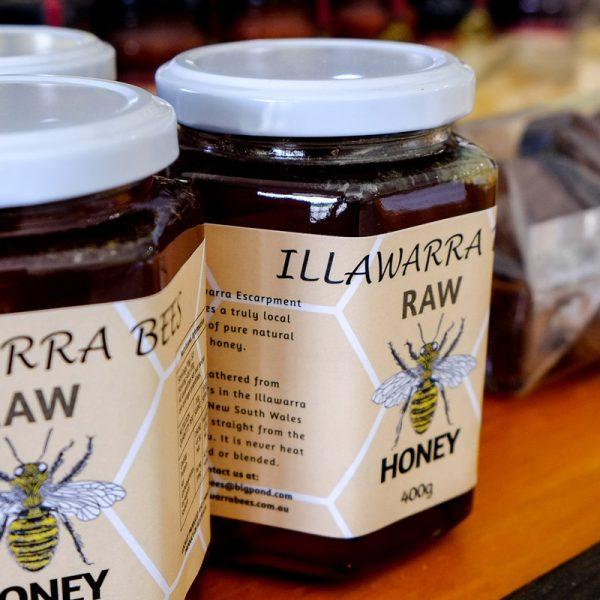 pure raw honey 400g glass jar